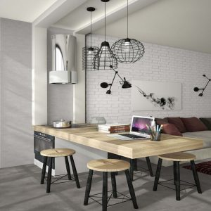 microcemento_gris_and_muro_blanco Tiles