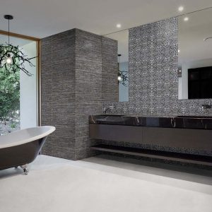 nimes 20x60 grey white and arles 20x60 grey roomset tiles